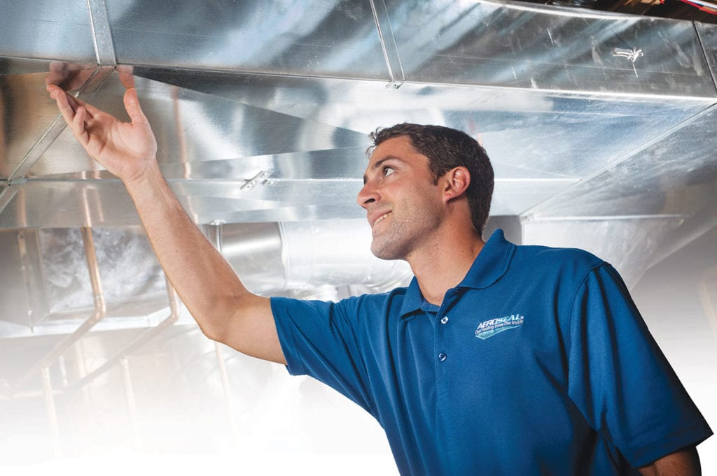 Aeroseal duct sealing inspection.