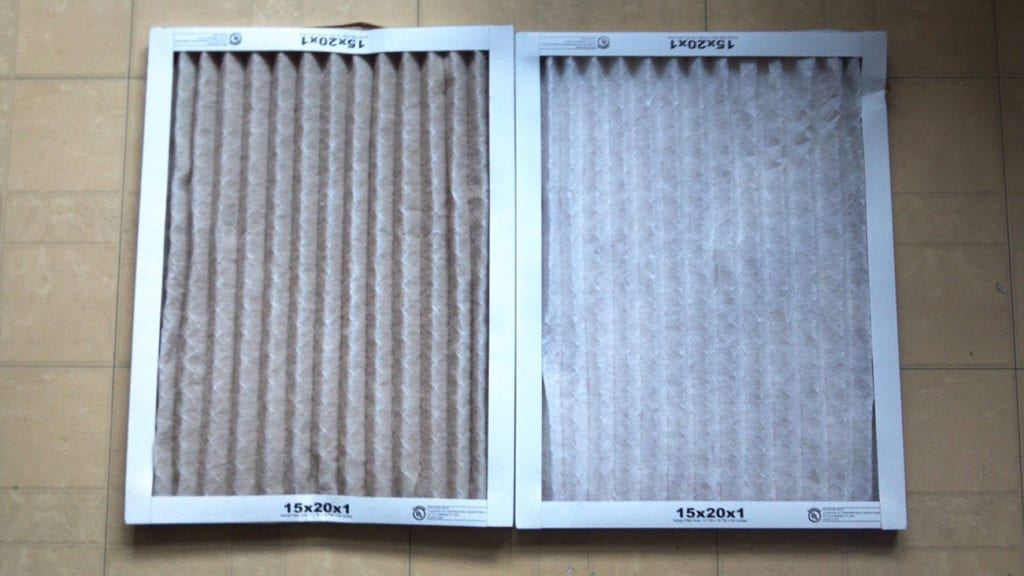 Dirty and clean air filters.