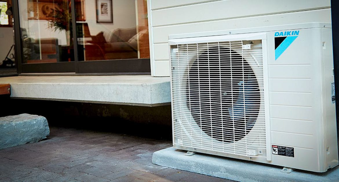 A Daikin FIT system installed outside a home