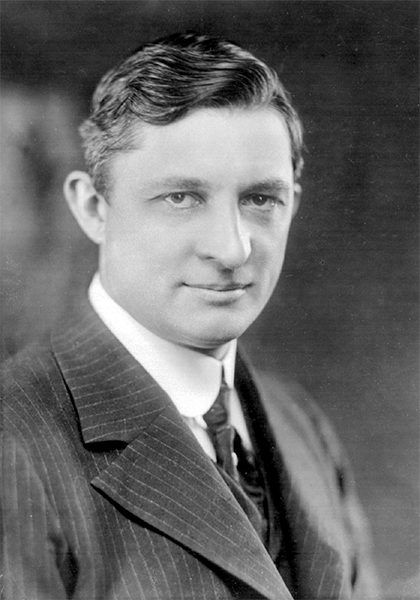 A black and white headshot of Willis Carrier, inventor of the modern air conditioner