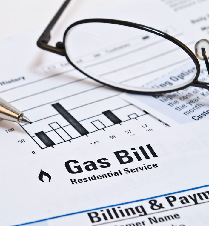 Gas bill from service company